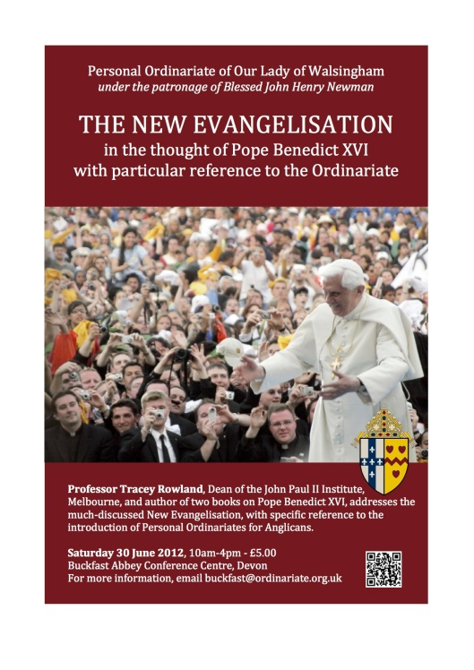 Tracey Rowland to speak on New Evangelisation, Benedict XVI & Ordinariate