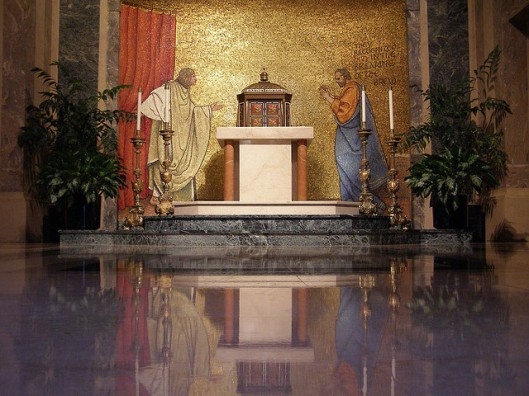 The Road to Emmaus: the Blessed Sacrament chapel of St Matthew's Cathedral, Washington DC.