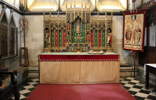 Side altar in Salisbury Cathedral