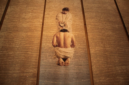 The baptism of the Lord by John Nava in Los Angeles