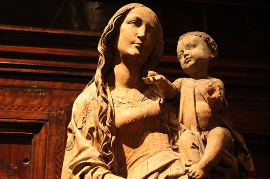 Virgin and Child by Tilman Riemenschneider, c. 1520, at Dumbarton Oaks.