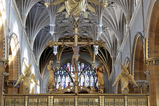 Rood Screen by Sir Ninian Comper in Saint Mary's, Wellingborough