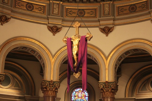 Hanging rood in the Cathedral of the Sacred Heart, Richmond, VA
