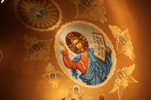 Detail from the apse of the Ruthenian Catholic Proto-Cathedral in Los Angeles, CA