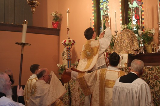 Elevation of the Chalice on Easter Sunday