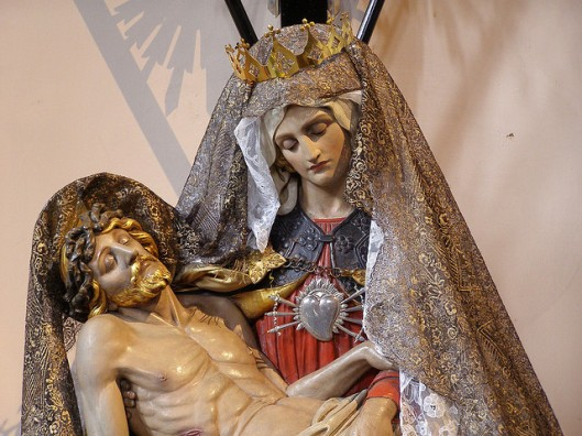 The pieta in the Anglican parish of Saint Silas, Kentish Town, London