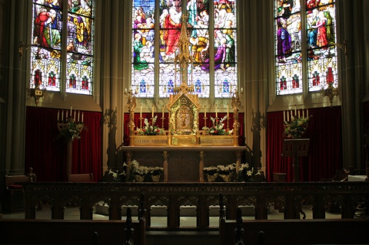 The Blessed Sacrament chapel of the cathedral in Covington, KY