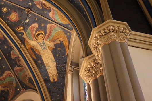 Detail from the sanctuary ceiling in Saint John the Evangelist, Indianapolis, IN