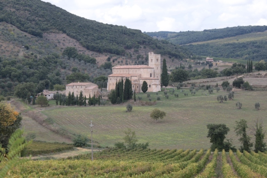 The Abbey of Sant'Antimo near Montalcino, Umbria