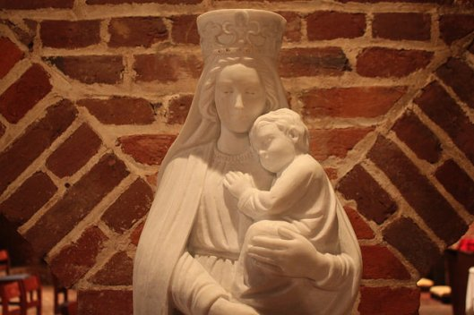 Our Lady, Seat of Wisdom, with the Christ child, in the Basilica of the National Shrine of the Assumption, Baltimore, MD