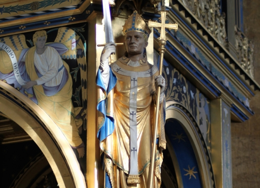 Saint Thomas Becket by Sir Ninian Comper in Saint Mary, Wellingborough