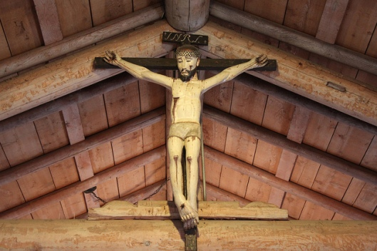 Crucifix in the mission church of San Antonio de Pala, CA