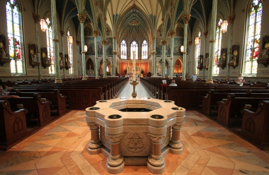 Font in the Cathedral of Saint John the Baptist, Savannah, GA