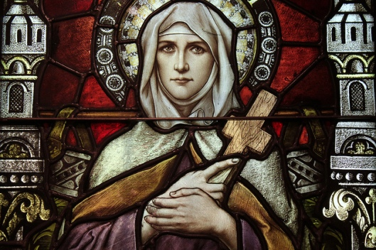Saint Monica, depicted in the Basilica Church of Saint Mary, Phoenix, AZ (Franz Mayer of Munich).
